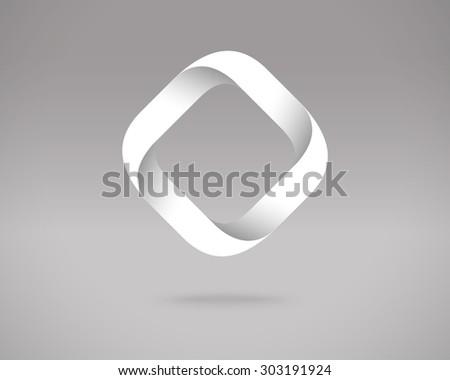 Abstract Vector Logo Design Template. Creative Concept Icon. Letter O Stylization  - stock vector