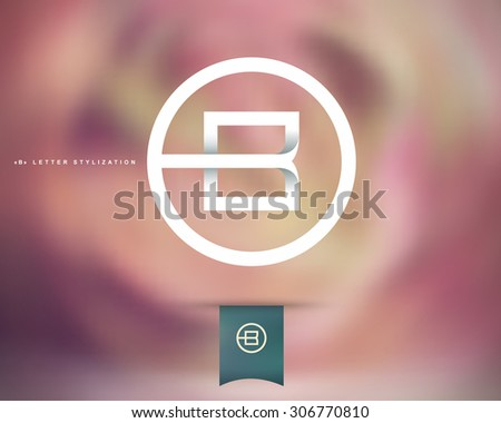 Abstract Vector Logo Design Template. Creative Concept Round Icon. Letter B Stylization  - stock vector