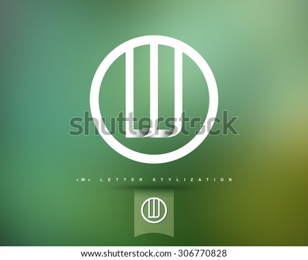Abstract Vector Logo Design Template. Creative Concept Round Icon. Letter W Stylization  - stock vector