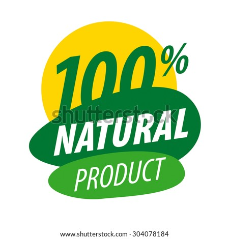 Abstract vector logo for natural products