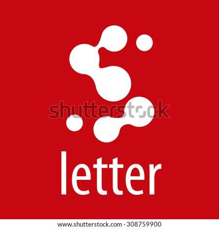 Abstract vector logo letter S from roundels - stock vector