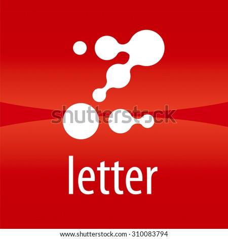 Abstract vector logo letter Z drops - stock vector