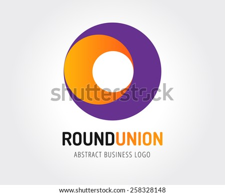 Abstract vector logo template for branding and design - stock vector
