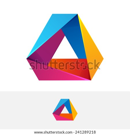 Abstract vector logo. 3 volume looped infinity logotype. Infinite loop. - stock vector