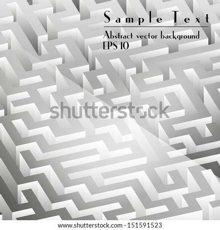 Abstract vector maze background