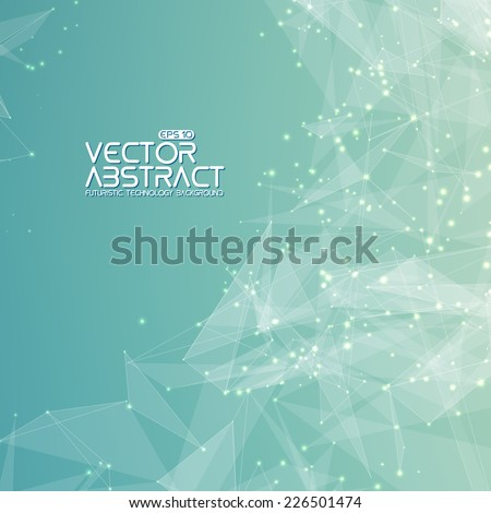 Abstract vector mesh background. Futuristic style card. Elegant background for business presentations. - stock vector