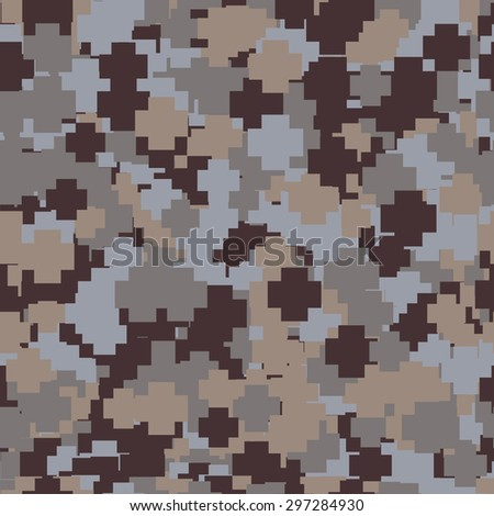 Abstract Vector Military Camouflage Background Made of Splash - stock vector