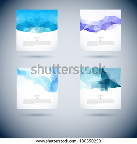 Abstract vector moder background with triangle object. Template for design - stock vector