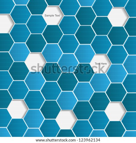 Abstract vector modern background with hexagon - stock vector