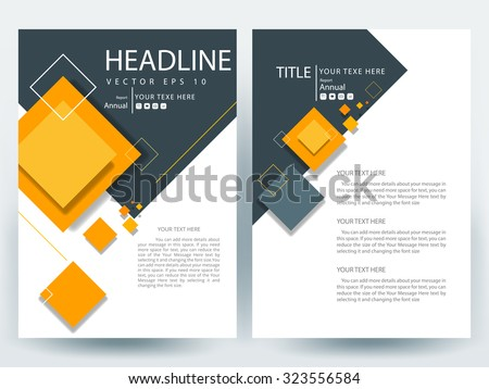Abstract vector modern flyers brochure / annual report /design templates / stationery with white background in size a4 - stock vector