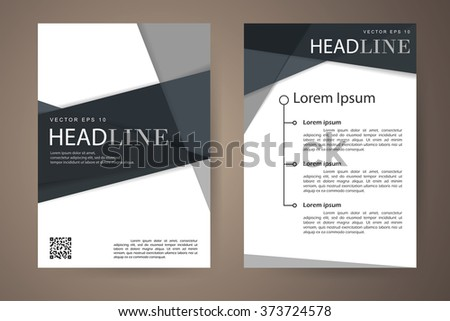 Abstract Vector Modern Flyers Brochure Booklet Stock Vector