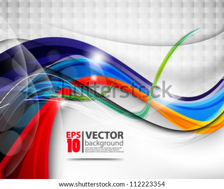 abstract vector multicolor wave design eps10 - stock vector