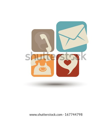 Abstract vector multicolored icons for smartphone - stock vector