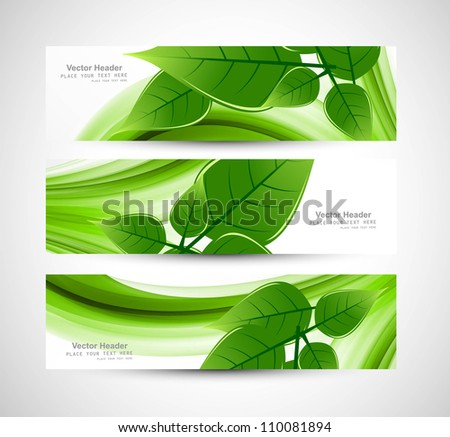 abstract Vector Natural eco green lives header vector - stock vector