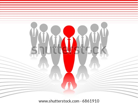 Abstract vector of a business leader - stock vector