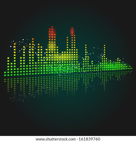 Abstract vector of a graphic equalizer - stock vector