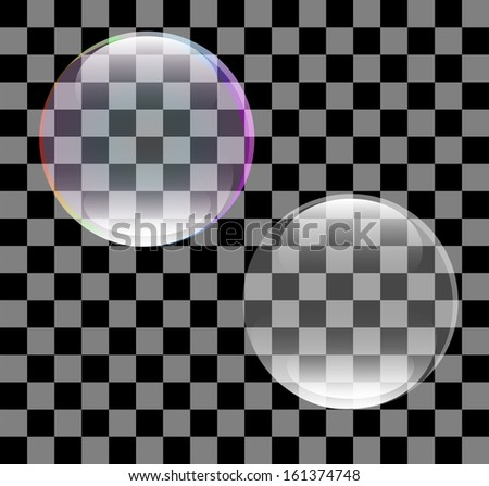 Abstract vector of a soap bubble