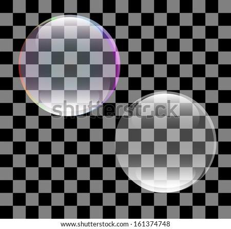 Abstract vector of a soap bubble - stock vector