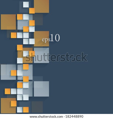 Abstract Vector Overlapping Squares Background. Eps10 - stock vector
