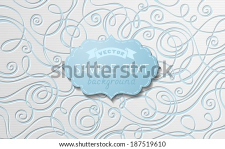 Abstract vector paper background. Hand-drawn vector illustration with place for your text. - stock vector