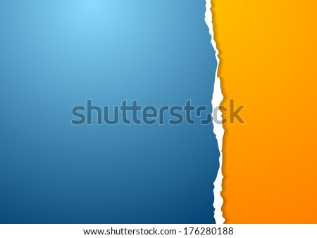 Abstract vector paper background with ragged edge - stock vector