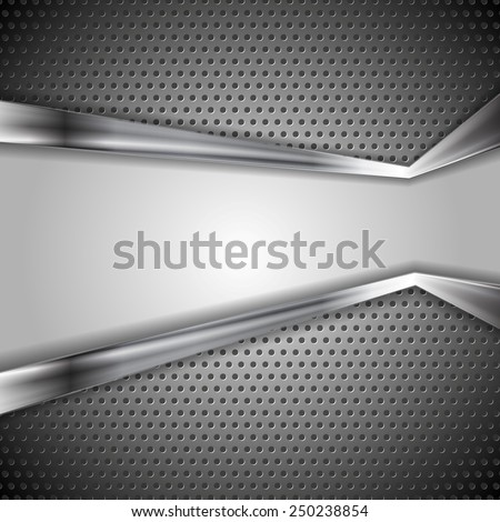 Abstract vector perforated metal background - stock vector
