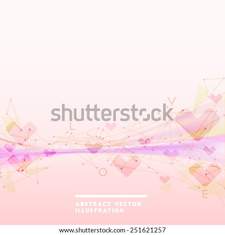 Abstract vector pink backdrop