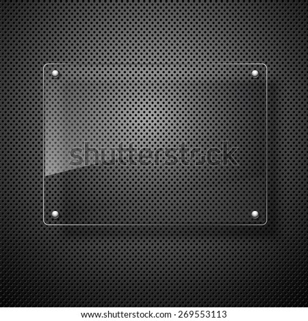 abstract vector plate on black wall