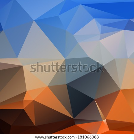 Abstract vector polygonal background.