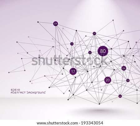 Abstract Vector Polygonal Background - stock vector