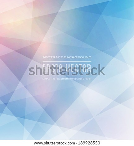 Abstract vector polygonal trendy and modern light geometric background - stock vector