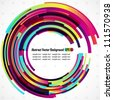 Abstract vector rainbow circles background - EPS 10 - stock vector