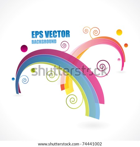 Abstract vector rainbow composition