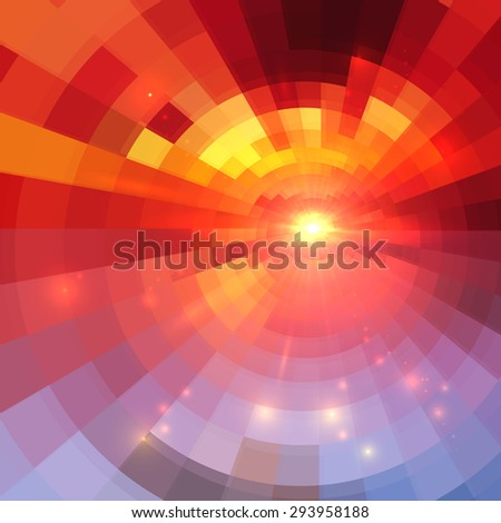 Abstract vector red circle technology background