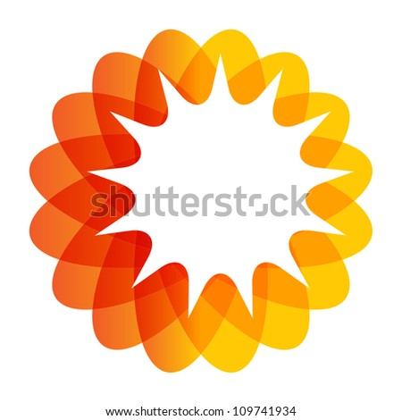 Abstract vector round geometric sign - stock vector