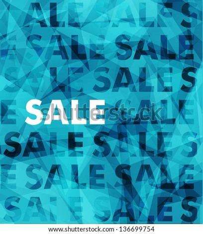 Abstract vector sale typography background - stock vector