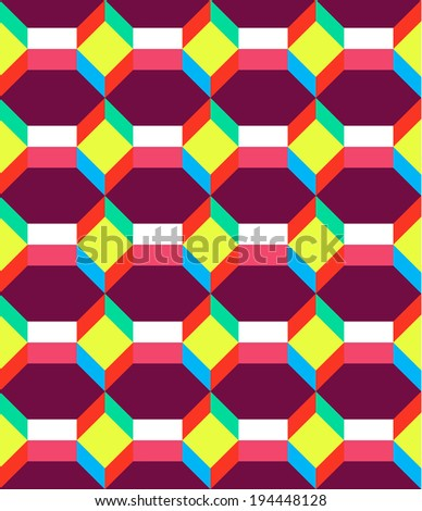 Abstract vector seamless background - stock vector