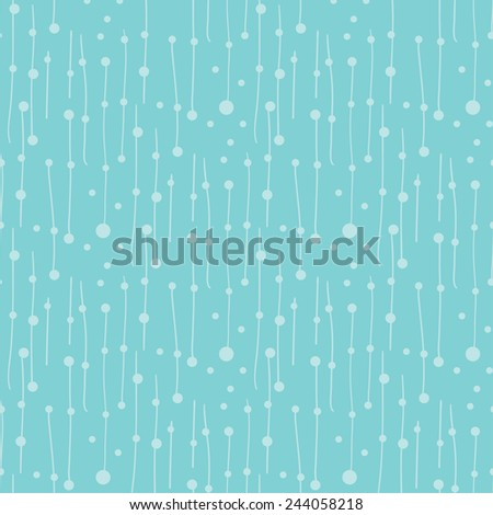 Abstract vector seamless blue colors pattern with lines and dots design element. - stock vector