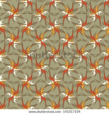 abstract vector seamless pattern - stock vector