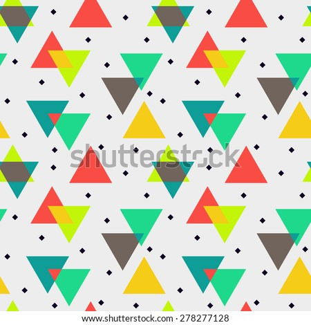 Abstract vector seamless pattern, geometric - stock vector