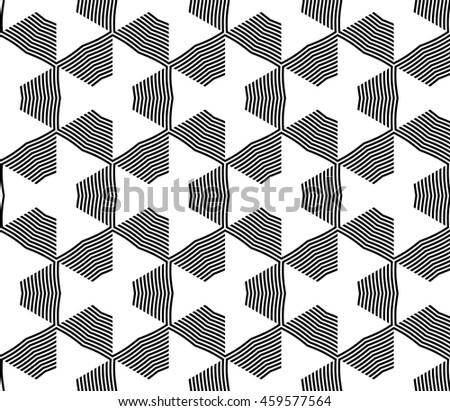 Abstract Vector seamless pattern with complex geometry style. Repaeting triangle, line. For modern design, wallpaper, textile industry