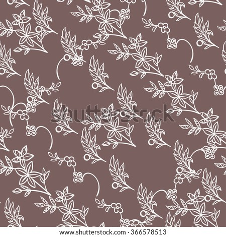 Abstract vector seamless pattern with flowers. Seamless texture with flowers.
