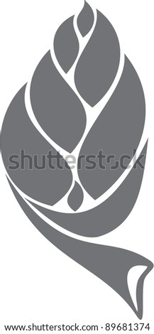Abstract vector Seed or Bud icon symbol - stock vector