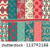 Abstract vector set of paper for scrapbook - stock vector