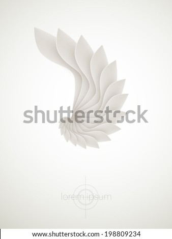 abstract vector shape - stock vector
