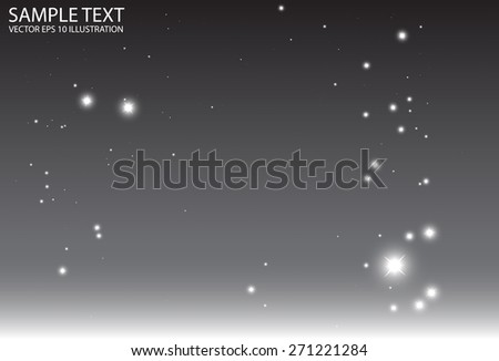 Abstract vector silver background sparkles illustration - Abstract vector glitters on gray  background illustration - stock vector