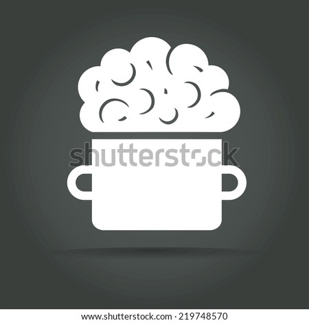 Abstract vector smart food logotype concept isolated on dark background - stock vector
