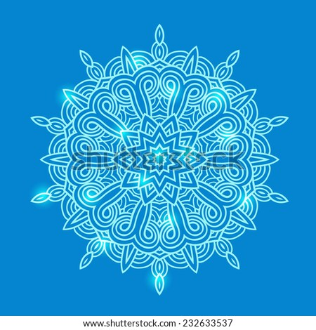 Celtic snowflake vector