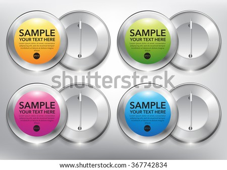 Abstract vector sticker set. Colorful and glossy on the white panel. Vector illustration. Eps10. - stock vector