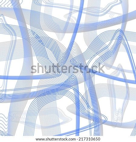 Abstract vector. Streamlined. Overflow - stock vector